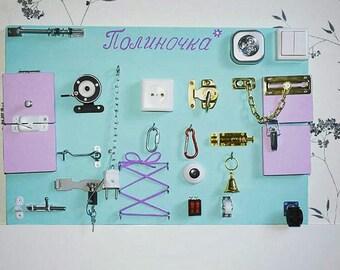 Busy board /Бизиборд, Busy board, stand Montessori, activity board, sensory board