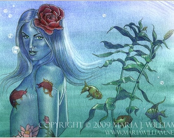 River Spirit - original watercolor painting