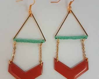 golden triangle Hill chevron earrings