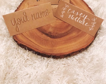 Hand-Lettered Custom Place Cards