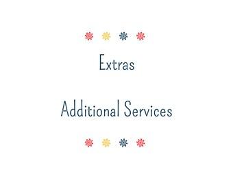 Service - Service supplémentaires/Add-On - graphisme Extra Service de découpe d'étiquettes