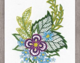 Sketch with Cornflowers cross stitch kit by RIOLIS Ref. no.: 1688