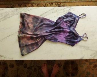 Tie Dye Slip Festival Slip Dress Hippie Dress Size Small