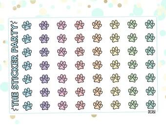 Paw Print Pet Planner Stickers