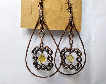 Framed Knot Earrings