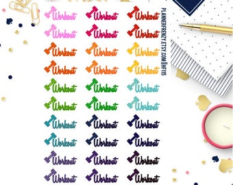 30 Workout Planner Stickers! HF115