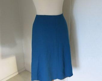 Petrol blue 60s 70s skirt