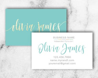 Rodan and fields give it a glow card rodan fields skincare business card rodan fields business card blue and gold business colourmoves Image collections