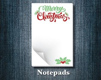 Christmas Notepads (set of 5)