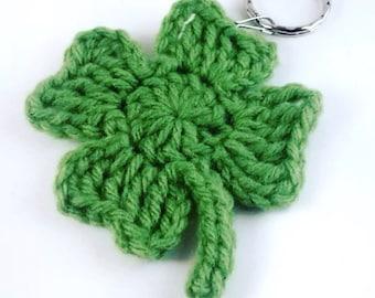 Shamrock key chain, Clover key chain, Four leaf clover, St. Patricks Day, Irish gifts, Shamrock