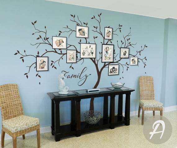 Large Family Tree Wall Decals Trees Decal Nursery Tree Wall