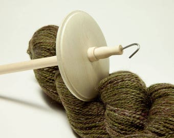 Holly and Maple top whorl drop spindle OOAK