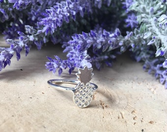 Pineapple stainless steel ring