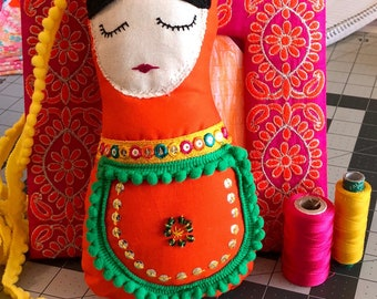 Handmade beaded Russian Doll