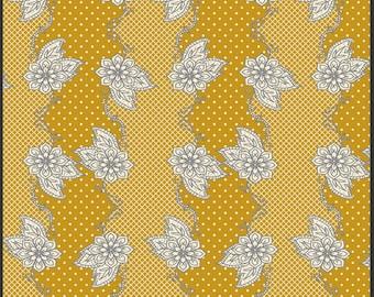 Henna Stripe Mustard - LB-1104 - LillyBelle - Art Gallery Fabrics 100% Quilters Cotton
