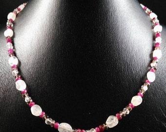 Quartz and Ruby necklace