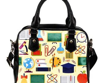 Teacher / School Teacher / Teacher's Gift / Substitute Teacher / Shoulder Bags/Handbags - Gift For Teachers / Certified Teacher
