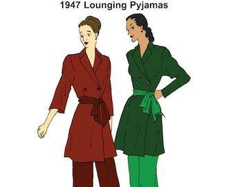 RH1423 — 1947 Lounging Pyjamas