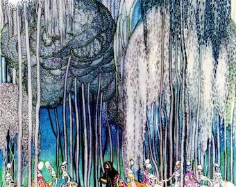 Kay Nielsen ART DECO Nouveau PRINT Original Vintage 1979 Book Plate
