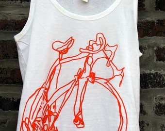 Classic Road Bike Sketch Bicycle Art  Womens Tank Top