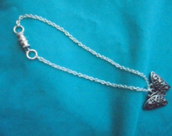 Lovely butterfly charm anklet