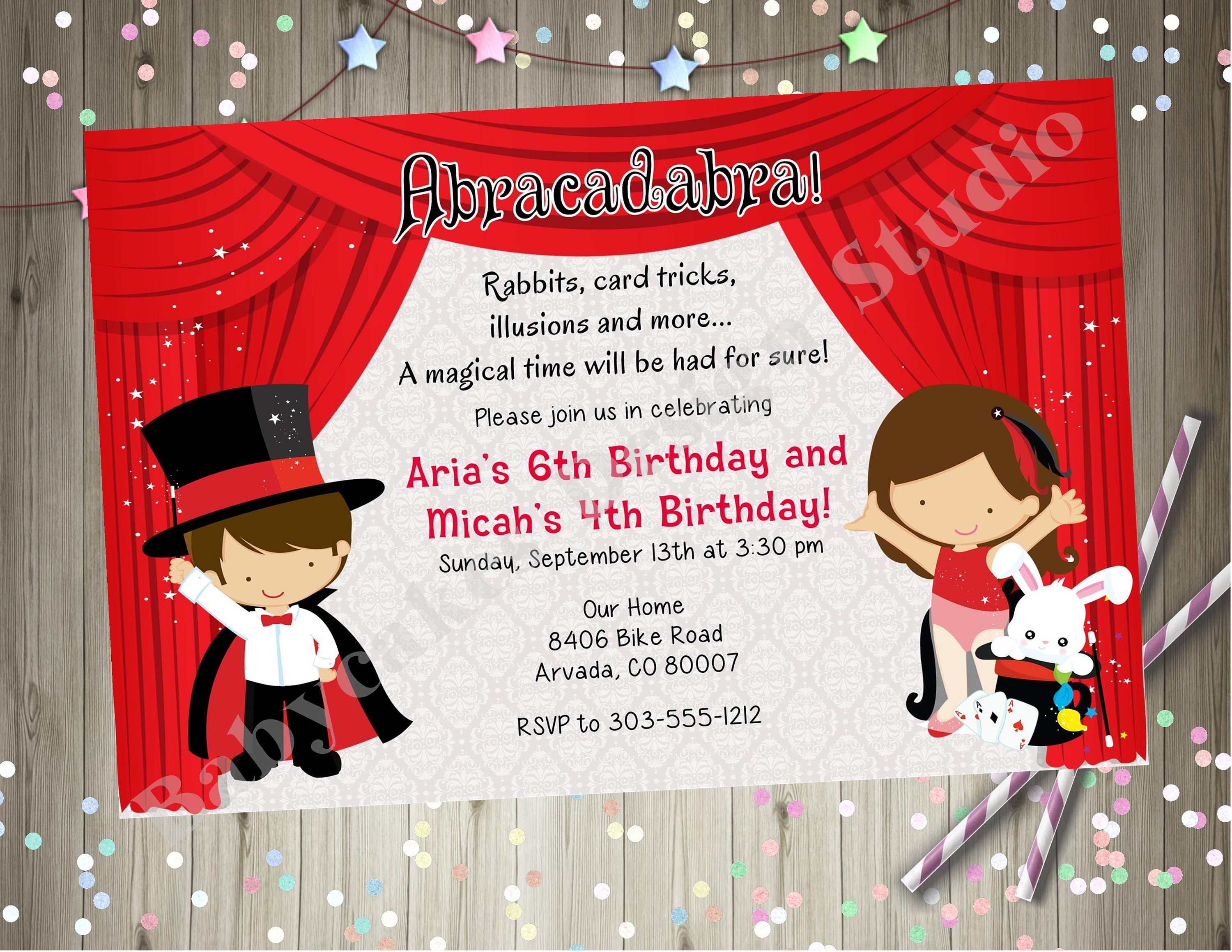 Cute Magic Show Party Invitations Pictures Inspiration ...