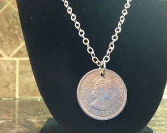 Hong Kong 1 dollar coin necklace