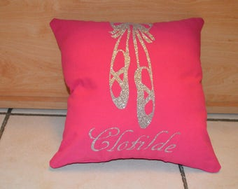 Cushion slippers Ballet personalized with name