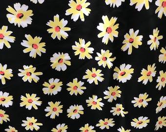 "100% Organic Rayon Challis Floral Print Fabric By The Yard 58"" Width"