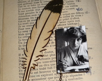 Writers: Colette (double brooch with clip)
