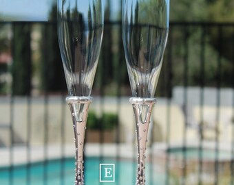 ac30bbe6f1 Swarovski Crystal Lenox Devotion toasting flutes, toasting glasses, champagne  flutes, champagne glasses.