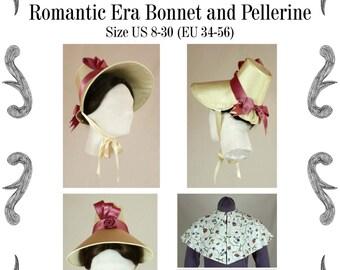 Romantic Era Bonnet and Pelerine Sewing Pattern #0615 PDF Download