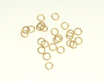 50pcs 14K Gold Filled 3mm Open Jump Rings 24ga, Made in USA, GF7