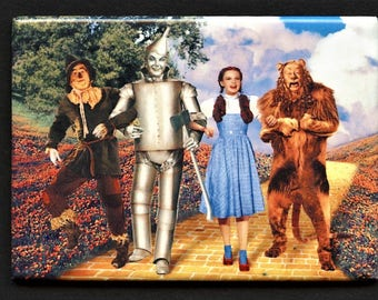"The Wizard of Oz, Metal wrapped ""ATA-BOY"" magnet"