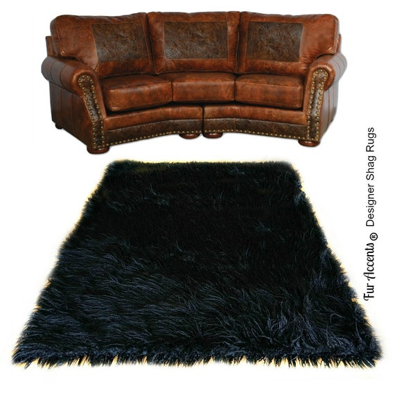 Faux Fur Thick Shag Mongolian Sheepskin Accent Rug Plush