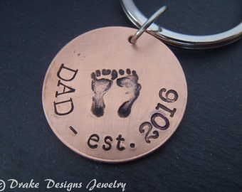 new dad gift new daddy keychain