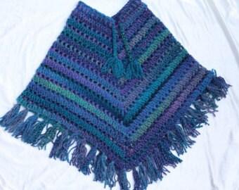 Girls Tweed Poncho Pattern