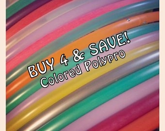 """Buy 4 and SAVE- 4 Colored PolyPro Hoops. Available in 3/4"""" OD AnD Most in 5/8"""" OD ThiN! Choose Sizes/Colors in Notes to Seller."""