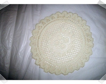 Light Beige Cotton Doily/Round Shape/Home Decor**