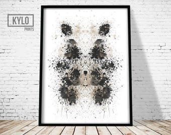 Rorshach Print, Ink Blot Art, Modern Printable, Printable Art, Abstract Print, Ink Blot Print, Home Printable, Abstract Poster, Minimalist