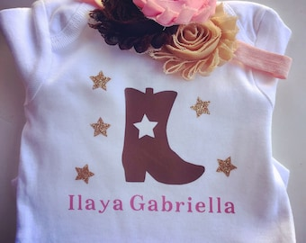 Cowgirl Boot Onesie