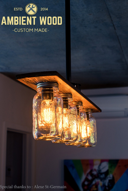 Pipe mason jar chandelier light vintage industrial antique edison 1 aloadofball Images