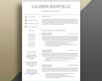 Professional Resume Template Instant Download. Clean Resume Template. Modern CV Template. Professional CV Template. Modern Resume Template.