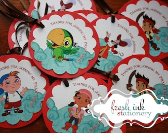 Jake and the Neverland Pirates Favor Tags