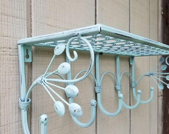 Wall coat rack metal Etsy