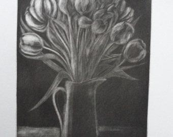 Tulips - Mezzotint