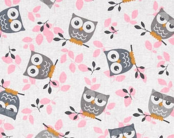 """Grey Owl small/Toddler Weighted Blanket approx 38-40x55"""" Cotton, Minky or Fleece"""