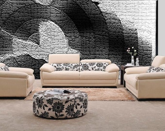 Black and White Wall mural, Wallpaper, Wall décor, Wall decal, Nursery and room décor, Wall art