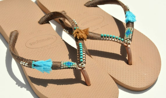 10 Flip Havaianas 9 Women Flip 11 US 8 Unique Sandals 6 7 Women Sandals Beaded Sandals Flops 5 Flops Bohemian Hippie Size Boho 12 xREq1PvwR