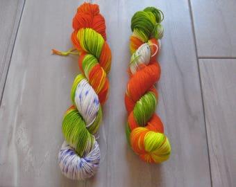 OOAK #1  -  50 gram skein, 75/25 sock yarn,